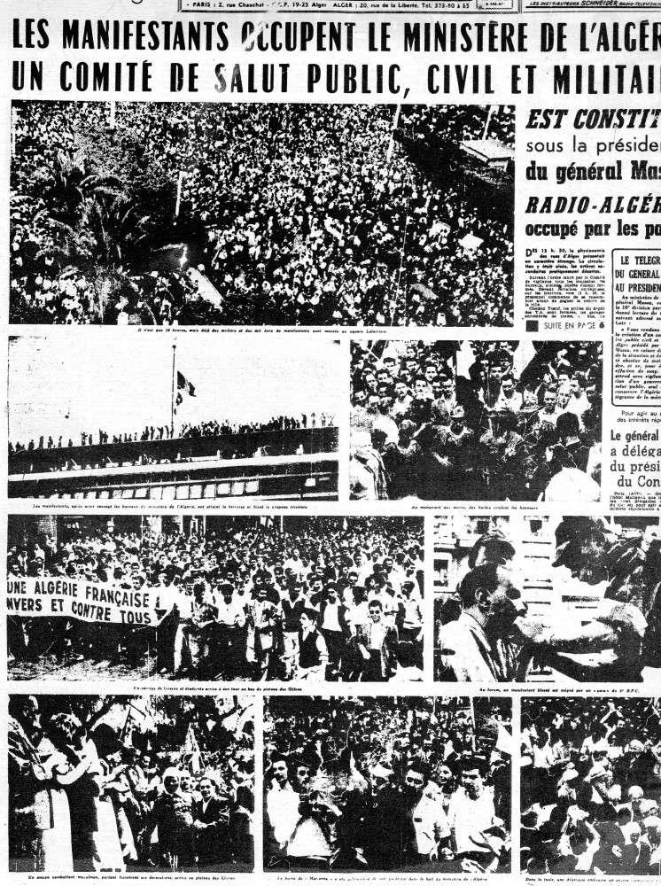IL Y A 55 ANS, ALGERIE PRESSE DU 14 MAI 1958 Img40011