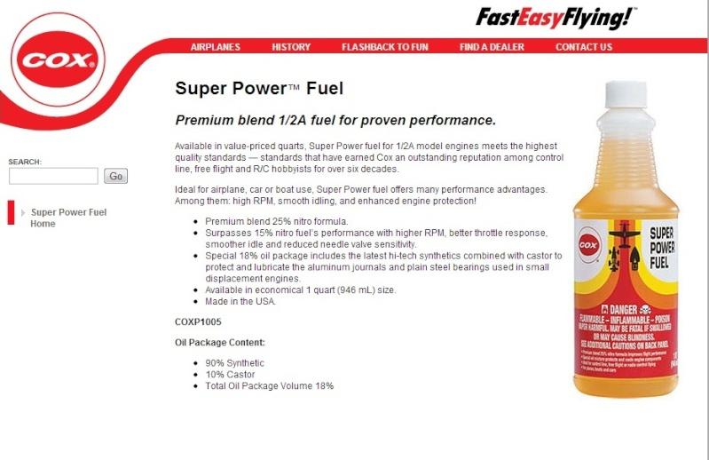 Castor oil for Cox Fuel10