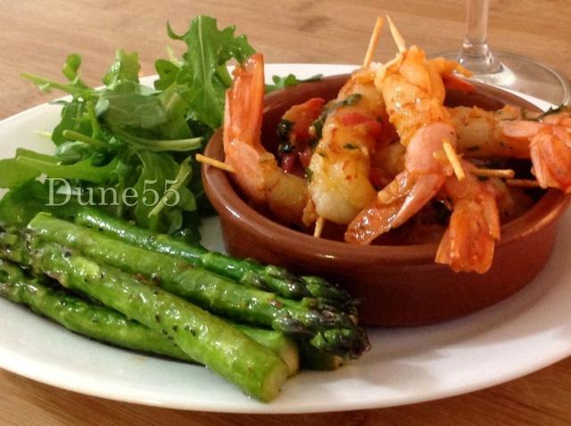 Crevettes poêlées - à la plancha Zwlogn10