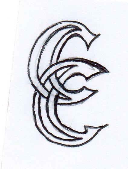 Croisement de 2 lettre C Monogr10