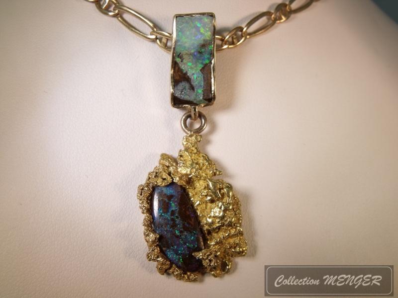 Pendentif Pépite Opale ! Papite10