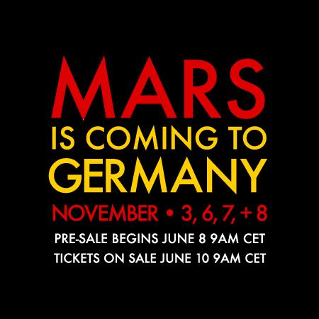 4 nouvelles dates en Allemagne en Novembre Marsge10
