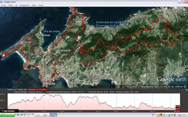 <Kedada> IV GR-59 Sendeiro Ecolóxico do Morrazo (06/07/´13) Mapaep10