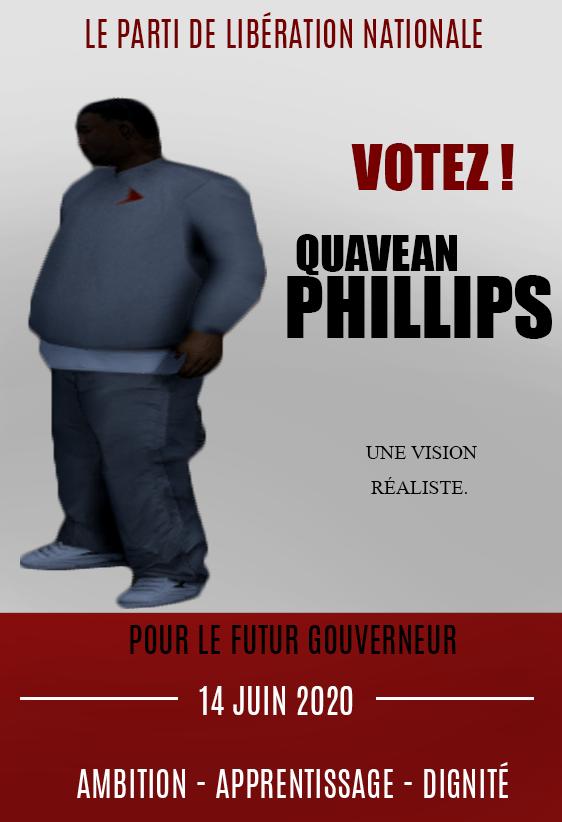 FLYER - PARTI DE LIBÉRATION NATIONALE - VOTEZ PHILLIPS Sans_t14