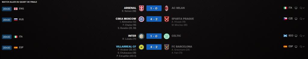 Match ALLER Quart de finale 1412