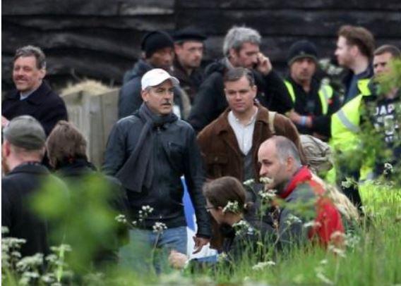 George Clooney filming in Fingest, Buckinghamshire Bucks10