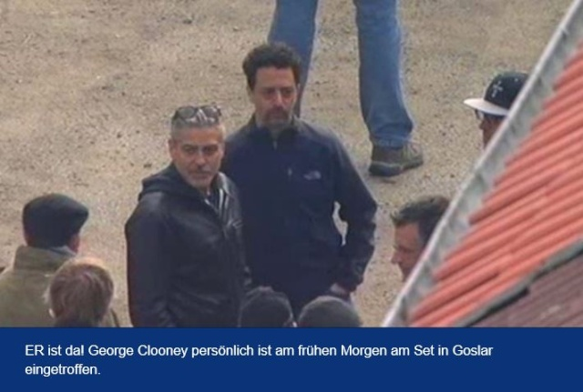 Photos: George Clooney filming in Goslar, Germany Cloone13