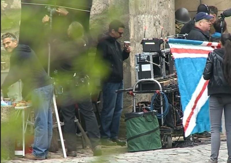 Photos: George Clooney filming in Goslar, Germany Cloone16