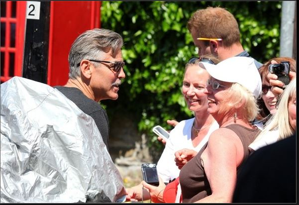 George Clooney filming in Rye  - Page 2 George11