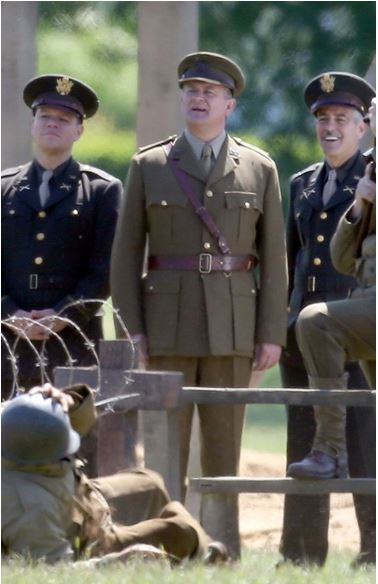 George Clooney filming Monuments Men in Hertfordshire June 3 Hertfo12