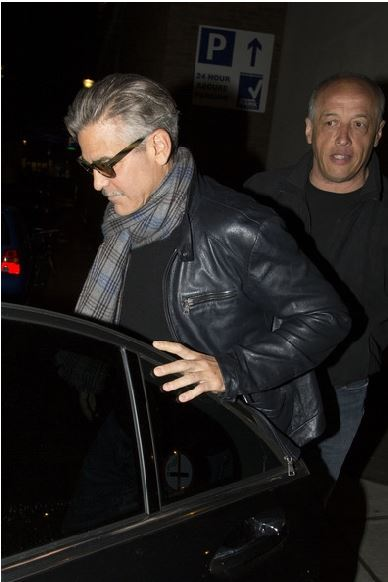George Clooney eating alone in London  London10