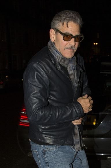 George Clooney eating alone in London  London12