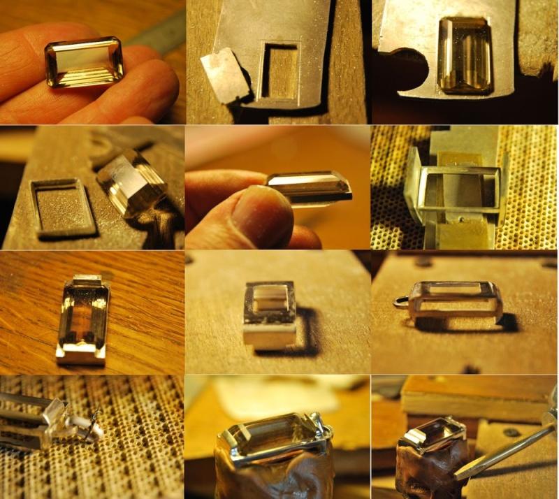 Pendentif quartz fumé 24x14x10 Tuto11