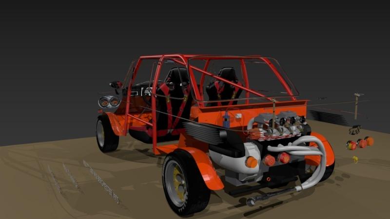 3D NSU TT Jagermeister Réplica Evo21911
