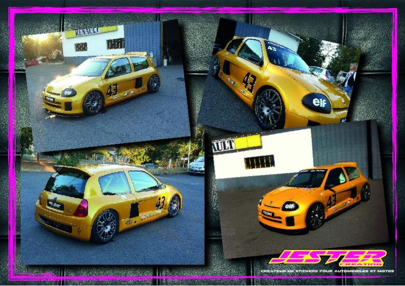 Vends Sticker Renault Replica - Stripping - et autres modeles  - Page 2 Clio_v10