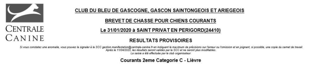 Les bbg en brevets - saison 2019/2020 Lievre12