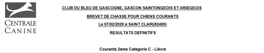 Les bbg en brevets - saison 2019/2020 Lievre13