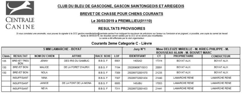 Les bbg en brevets saison 2018/2019 Lizovr12