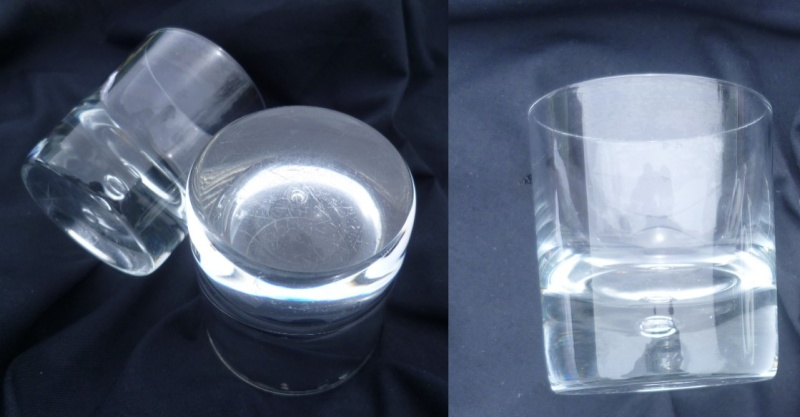 A pair of nice tumblers with controled single bubble & flat cut base Aaaaa10
