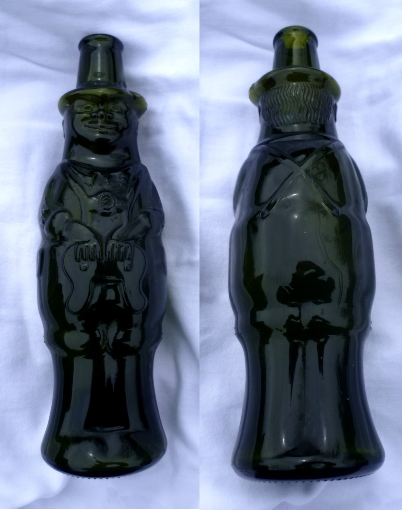 very odd looking glass bottle man - NV stamp Abc10
