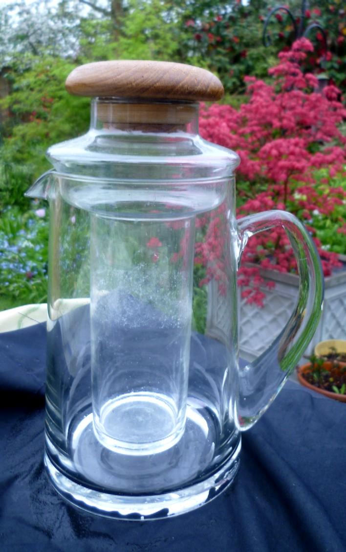 Mid Century modern Wine jug with cooler tube P1030822