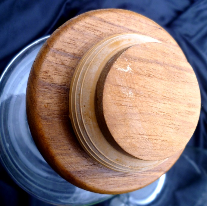 Mid Century modern Wine jug with cooler tube P1030823