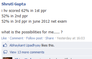 UGC NET June 2012 - Nagpur Court Order and facebook leaders I_have10