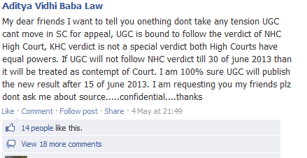 UGC NET June 2012 - Nagpur Court Order and facebook leaders Ugc_ca10