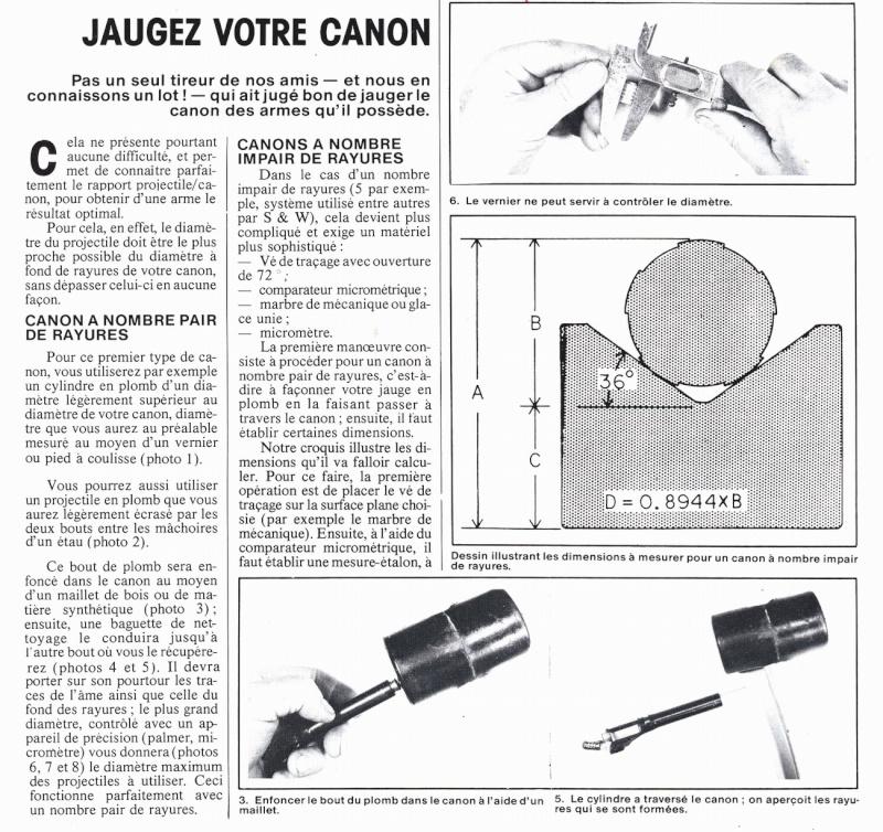 Jaugeage des canons à nombre de rayures impair Ami_110