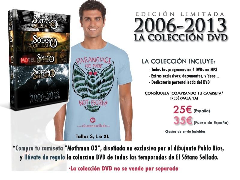 """Reserva ya tu camiseta """"Mothman O3"""" y consigue la Colección DVD de El Sótano Sellado Camise11"""