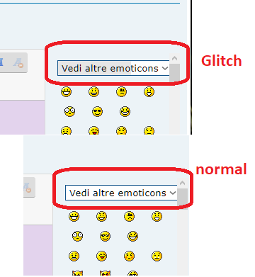 Glitch in edit on emoticons header zone   Glitch10