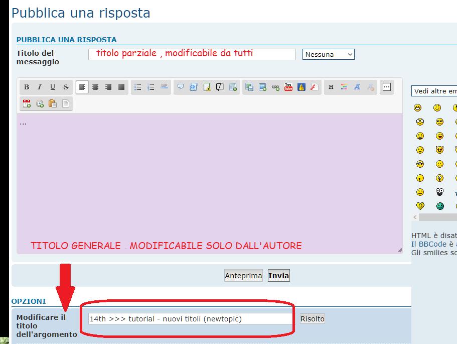 14th >>> tutorial - nuovi titoli (newtopic) Istruz11