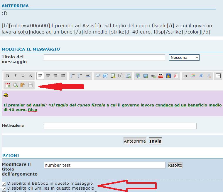 5th >>> istruzioni per l'uso degli editor text  Test-b10