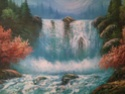 Landscape oil painting by W E Chapman? 1211