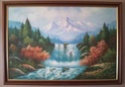 Landscape oil painting by W E Chapman? 134