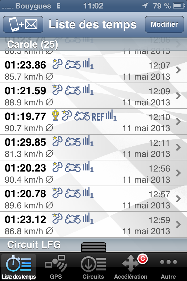 quelle appli iphone pour chrono sur piste? Img_2011
