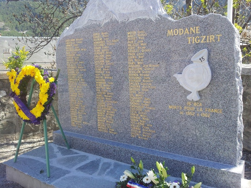 Déplacement à Modane Mémorial du 15eme BCA 20130510