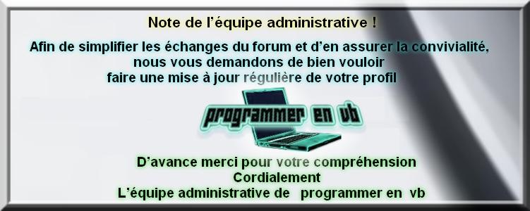 Charte du forum Programmer en VB Sans_t24