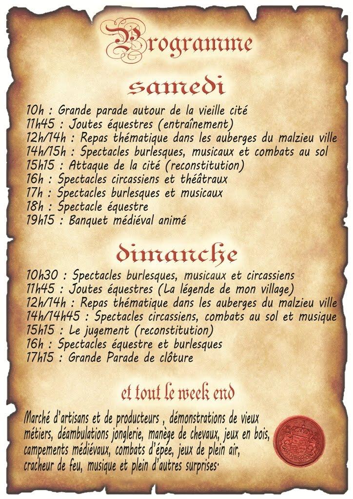 La Médiévale du Malzieu (Lozère) 11 et 12 mai 2013 Malzie10