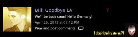 [BTK TWINS APP] 26.04.2013 @Bill:Adeus L.A Ls10
