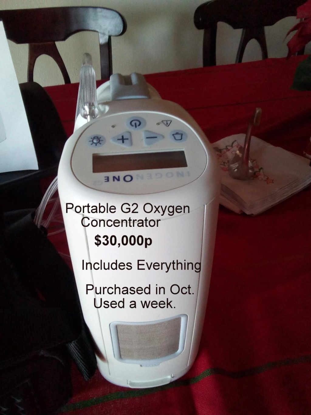 Portable G2 Oxygen Concentrator  Thumbn10
