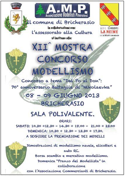 8-9 giugno Bricherasio (TO) Mostra concorso modellismo Volant10
