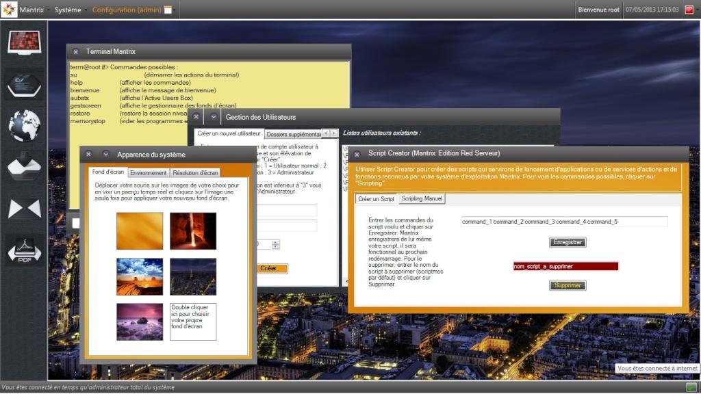 Mantrix Edition Red Serveur - Operating System Projet - Page 5 Apercu10