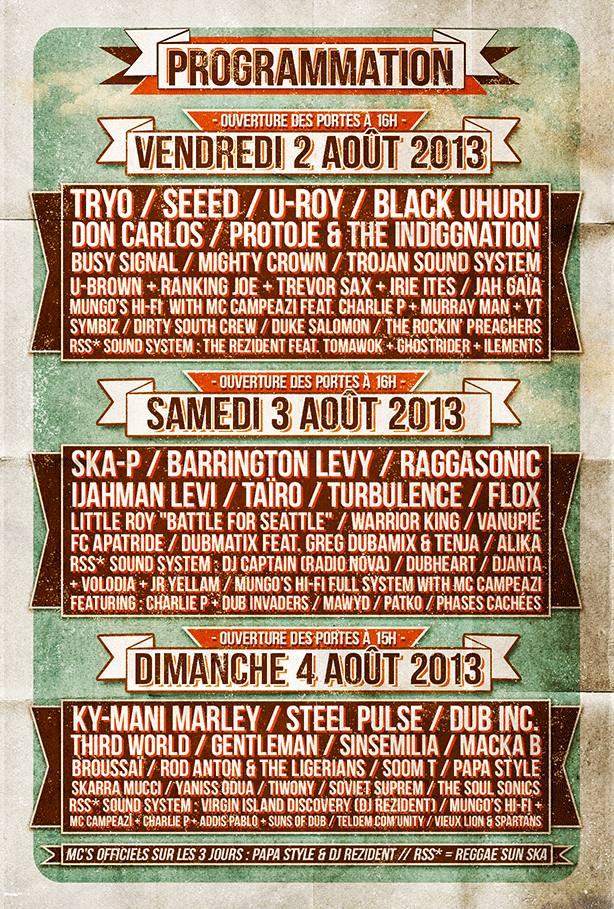 16 eme Reggae Sun Ska le 2,3,4 Aout 2013 a Pauillac 10017811