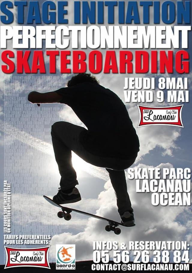 Stage Initiation Perfectionnement Skateboarding le 9 et 10 Mai 2013 a Lacanau 94336310