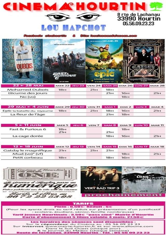 Programme du Cinema Hourtin du 22 Mai au 18 Juin 2013 94465010