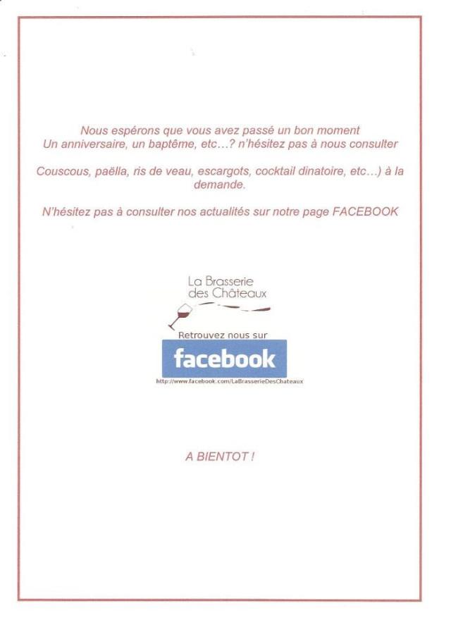 Page Facebook La brasserie des Chateaux  94661410