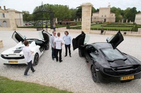 McLaren fait son show dans les vignes du Médoc Mclare10