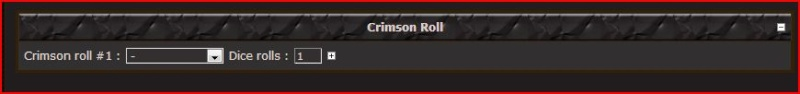 Paladin Roll : #8 Crimso10