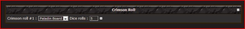 Paladin Roll : #8 Crimso11
